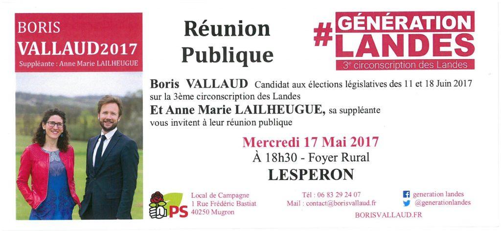 réunion publique Vallaud Lesperon 17 mai